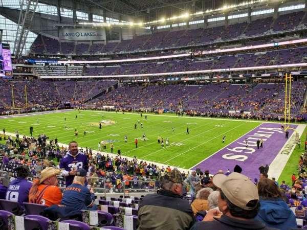 U.S. Bank Stadium, section: 114, row: 27, seat: 29