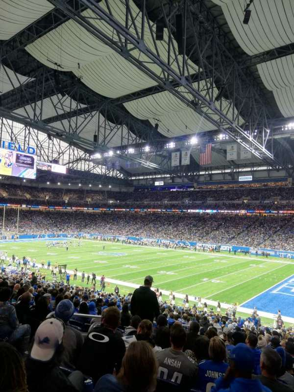 Ford Field, section: 111, row: 31, seat: 6