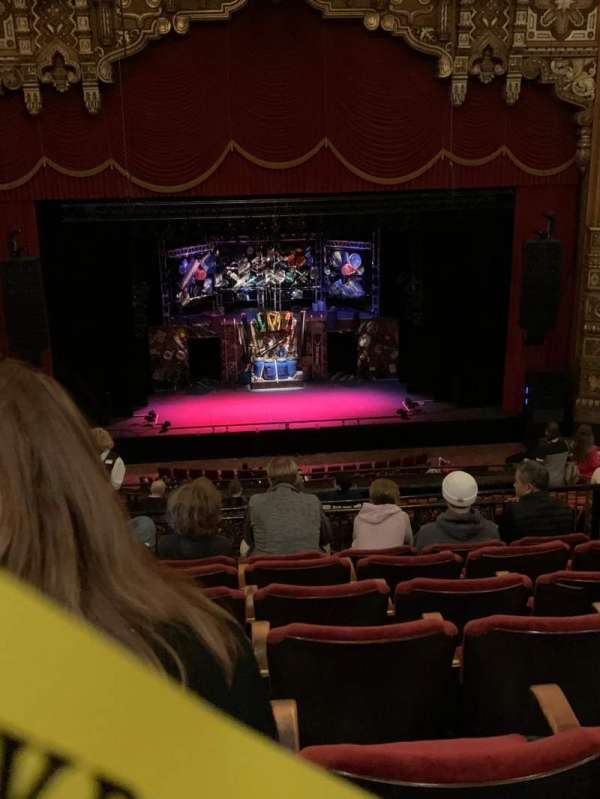 The Fabulous Fox Theatre (St. Louis), section: BA03, row: G, seat: 109