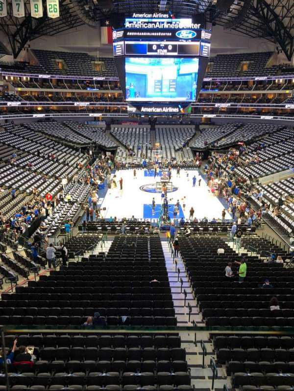 American Airlines Center, section: 201, row: A, seat: 9
