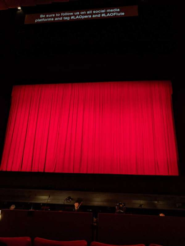 Dorothy Chandler Pavilion, section: Orchestra, row: D, seat: 16