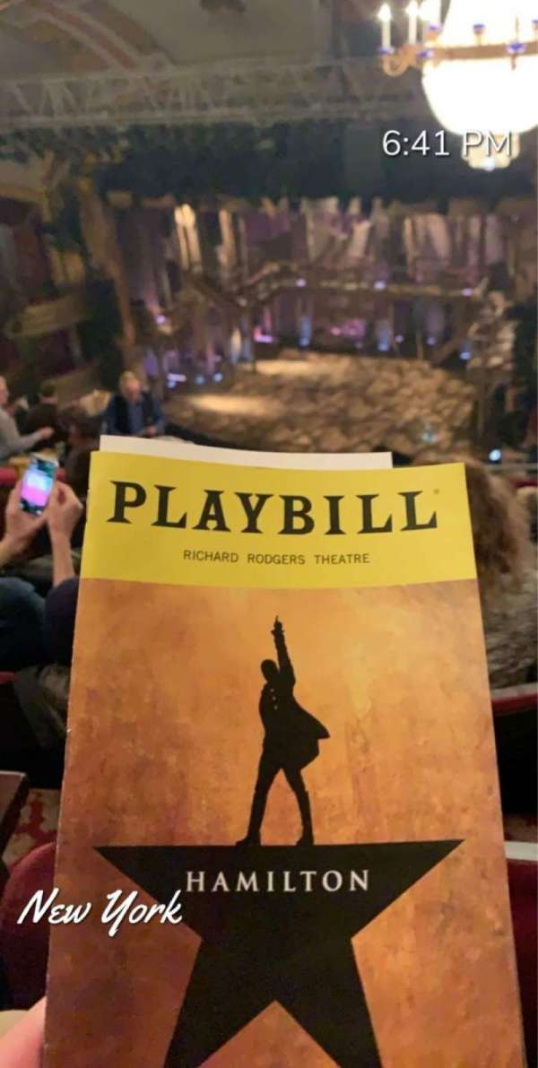Richard Rodgers Theatre, section: Rear Mezzanine R, row: N, seat: 26
