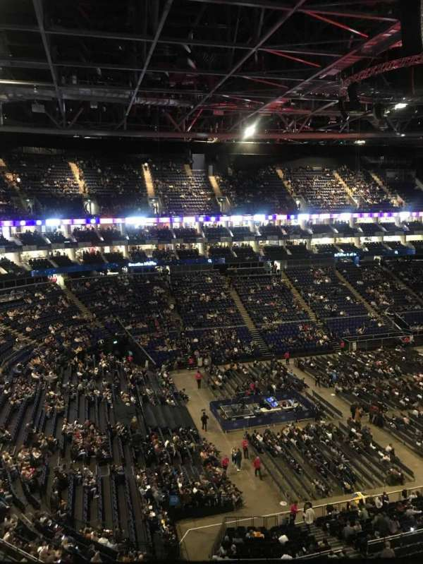 The O2 Arena, section: 417, row: A, seat: 843