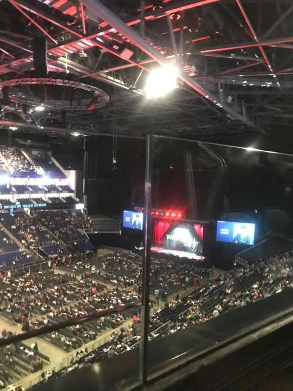 The O2 Arena, section: 417, row: A, seat: 844