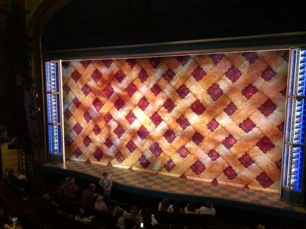 Brooks Atkinson Theatre, section: Front Mezzanine R, row: B, seat: 6