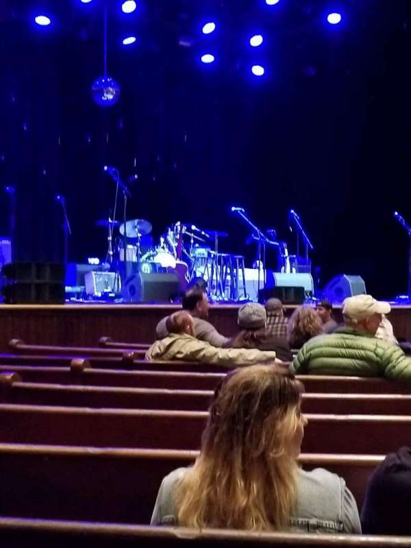 Ryman Auditorium, section: MF-7, row: M, seat: 5