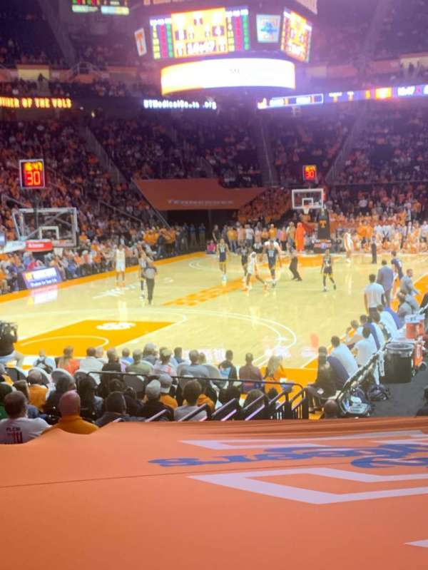 Thompson-Boling Arena, section: 111, row: 11, seat: 1