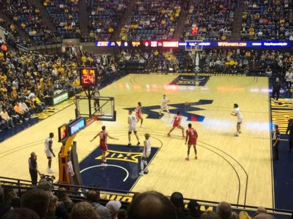WVU Coliseum, section: 114, row: K, seat: 14