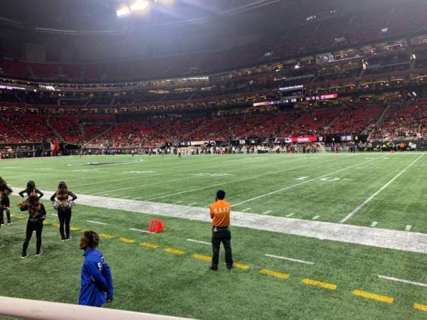 Mercedes-Benz Stadium, section: 106, row: 1, seat: 3