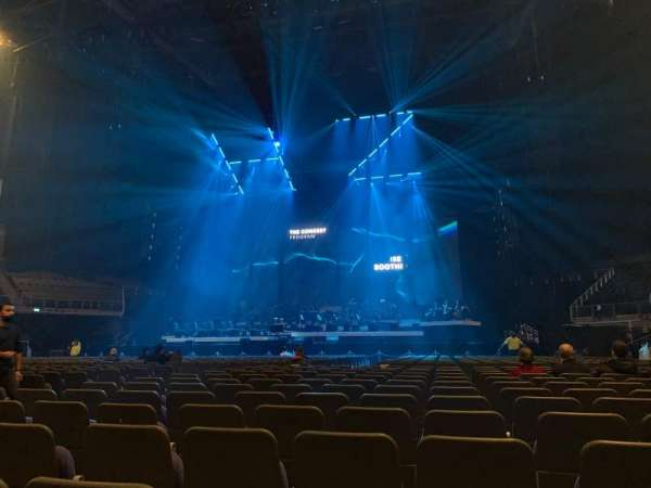 The O2 Arena, section: B3, row: U, seat: 43