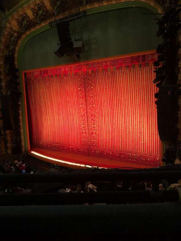 New Amsterdam Theatre, section: Mezzanine R, row: BB, seat: 18