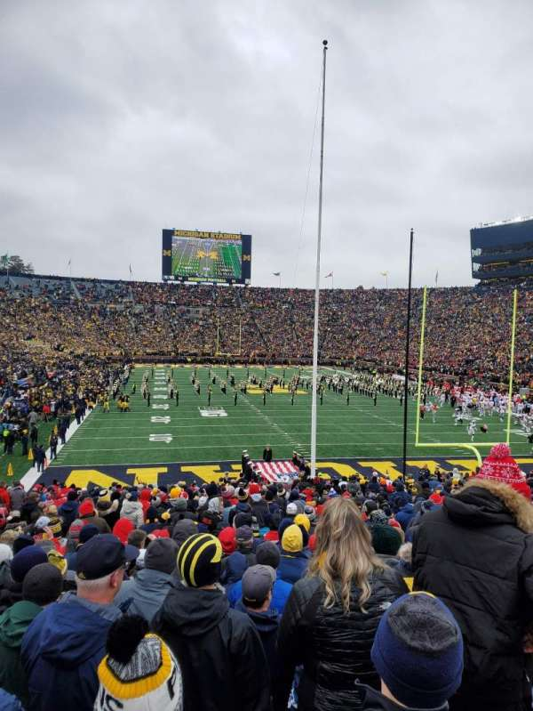 Michigan Stadium, section: 13, row: 35, seat: 4