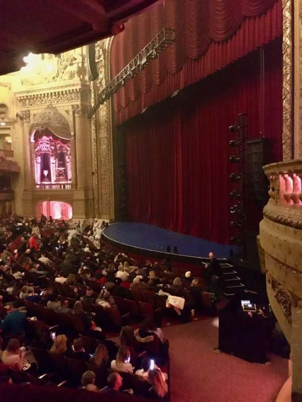 Chicago Theatre, section: Mezzanine Box A, seat: 1 - 2