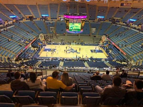 WVU Coliseum, section: 211, row: R, seat: 9