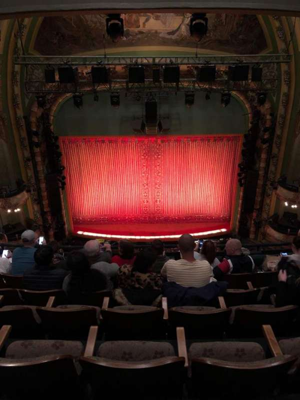 New Amsterdam Theatre, section: Balcony C, row: F, seat: 109