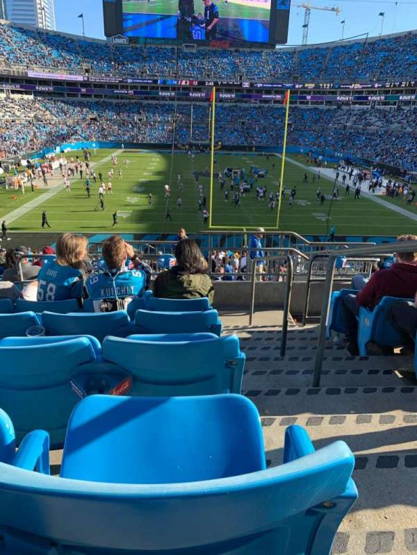 Bank of America Stadium, section: 202, row: 11, seat: 1
