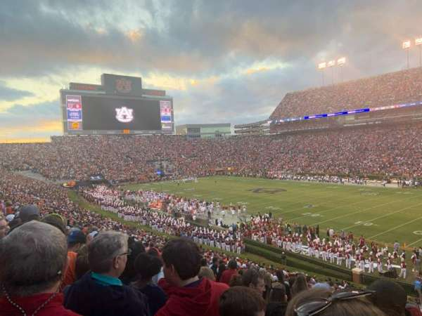 Jordan-Hare Stadium, section: 34, row: 35, seat: 1
