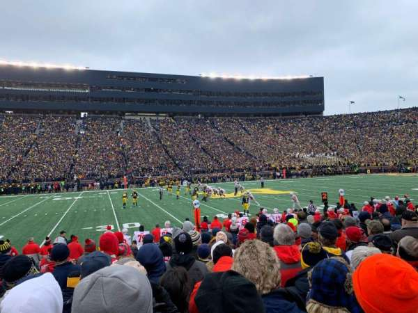 Michigan Stadium, section: 3, row: 10, seat: 25