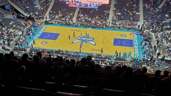 Spectrum Center, section: 208, row: R, seat: 5