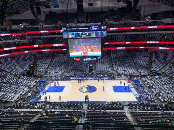 American Airlines Center, section: 309, row: A, seat: 13
