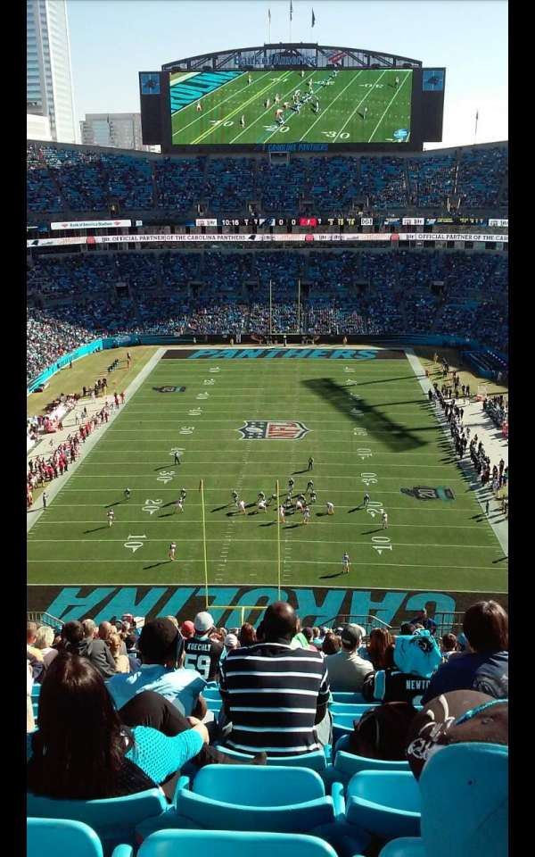Bank of America Stadium, section: 501, row: 21, seat: 5