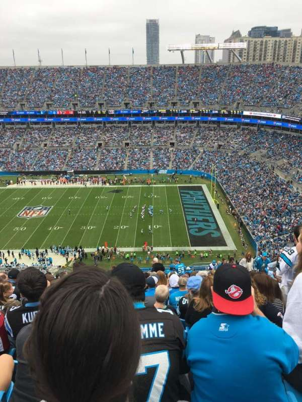 Bank of America Stadium, section: 539, row: 26, seat: 9