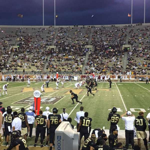 Truist Field at Wake Forest, section: 6, row: H, seat: 8