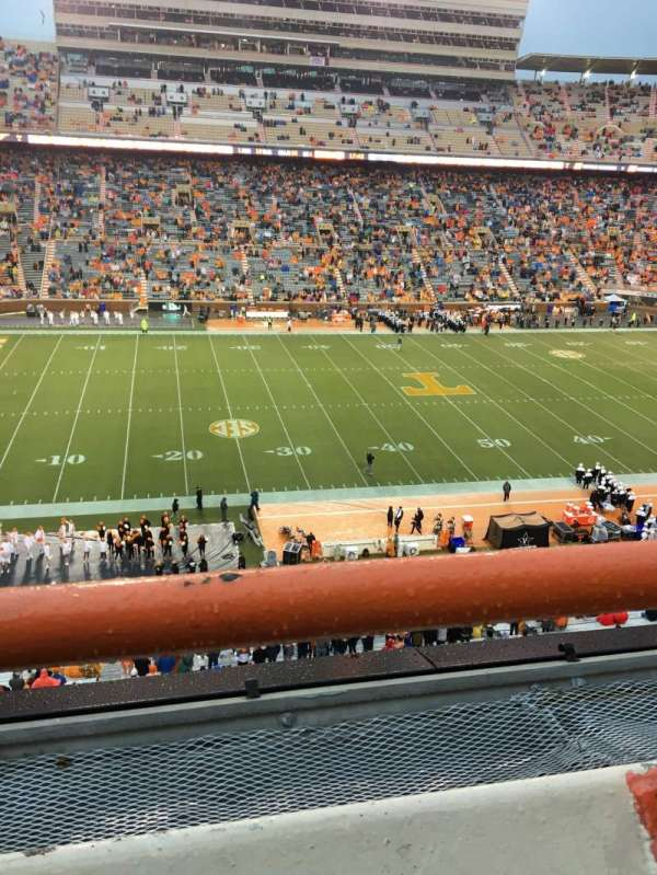Neyland Stadium, section: EE, row: 1, seat: 30