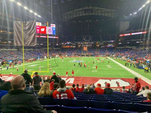 Lucas Oil Stadium, section: 125, row: 23, seat: 19