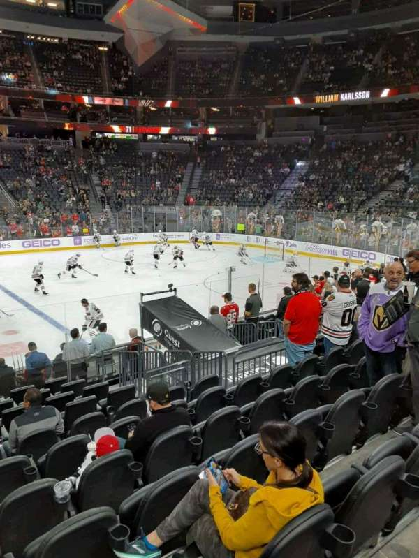 T-Mobile Arena, section: 6, row: G, seat: 2