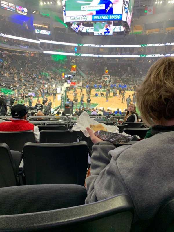 Fiserv Forum, section: 110, row: 10, seat: 8