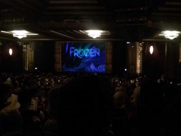 Hollywood Pantages Theatre, section: Orchestra RC, row: YY, seat: 213