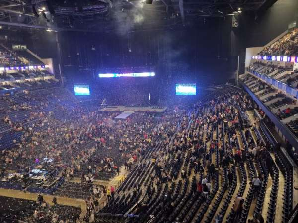 The O2 Arena, section: 415, row: A