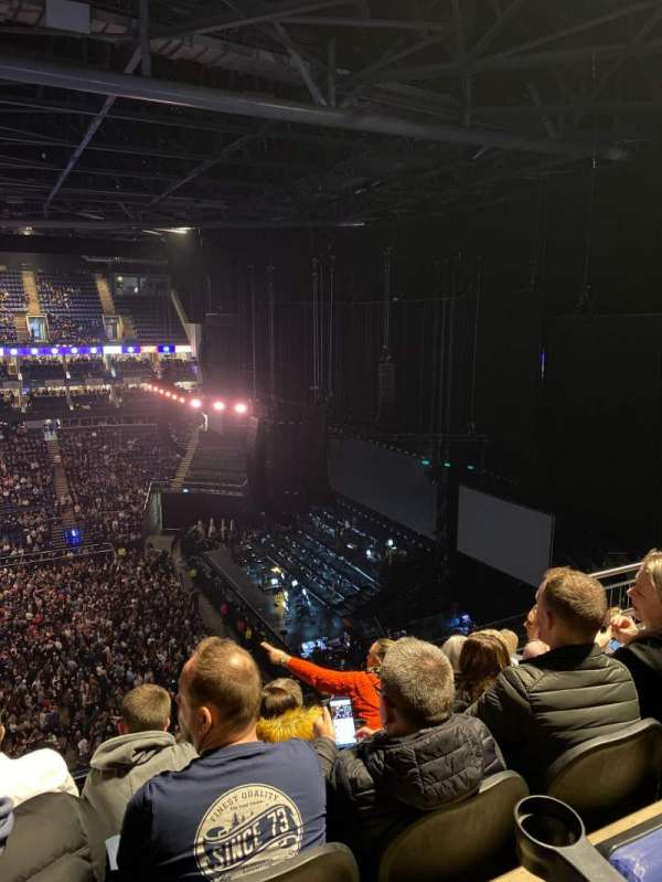 The O2 Arena, section: 420, row: G, seat: 944