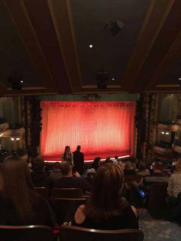 New Amsterdam Theatre, section: Mezz, row: PP, seat: 3