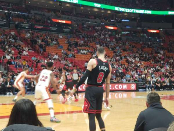 American Airlines Arena, section: 120, row: 2, seat: 9
