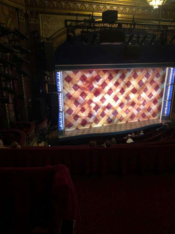 Brooks Atkinson Theatre, section: Rear Mezzanine L, row: F, seat: 1