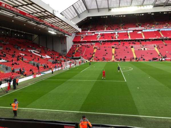 Anfield, section: KM, row: 14, seat: 200