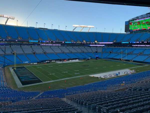 Bank of America Stadium, section: CT321, row: 22