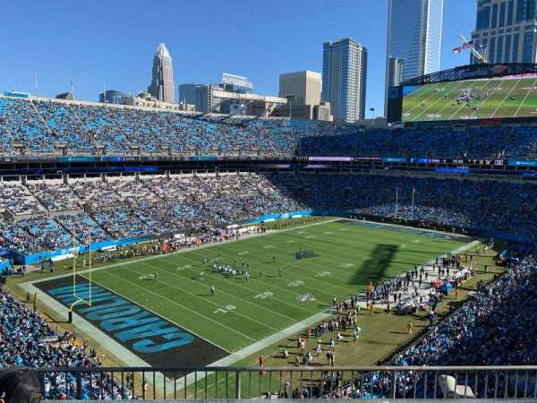 Bank of America Stadium, section: 549, row: 1, seat: 10