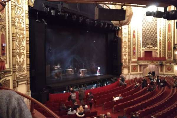 Cadillac Palace Theater, section: Dress Circle L, row: EE, seat: 1