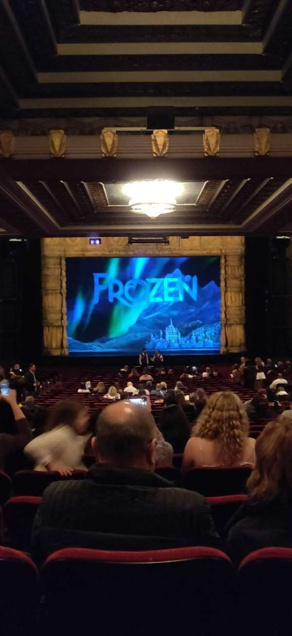 Hollywood Pantages Theatre, section: orchestra c, row: WW, seat: 108