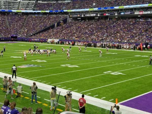 U.S. Bank Stadium, section: 124, row: 11, seat: 19