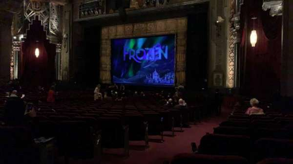 Hollywood Pantages Theatre, section: Orchestra R, row: NN, seat: 4