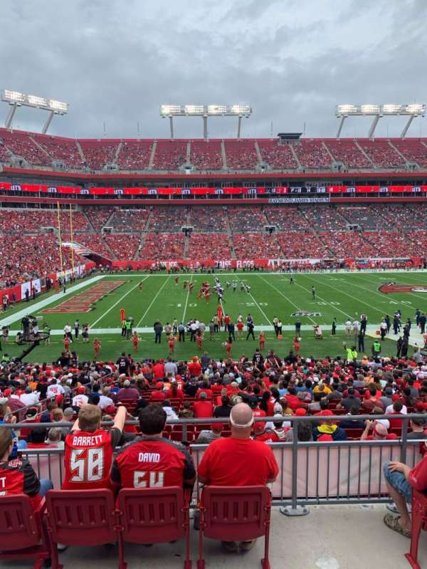 Raymond James Stadium, section: 233, row: A, seat: 7