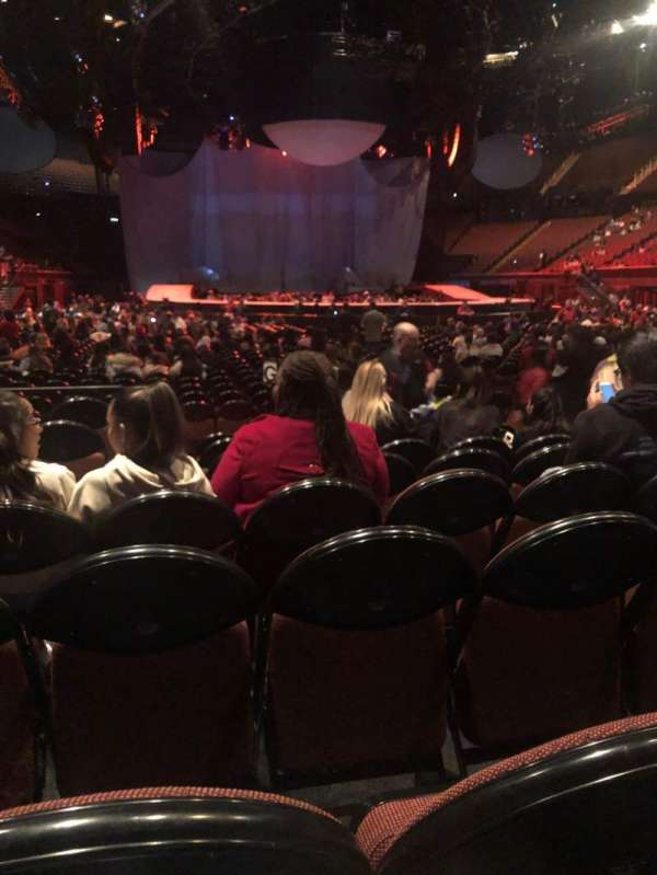 The Forum, section: 1, row: 8, seat: 7