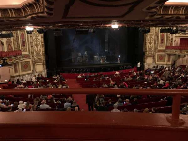Cadillac Palace Theater, section: Dress Circle LC, row: A, seat: 202