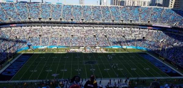 Bank of America Stadium, section: 543, row: 22, seat: 1