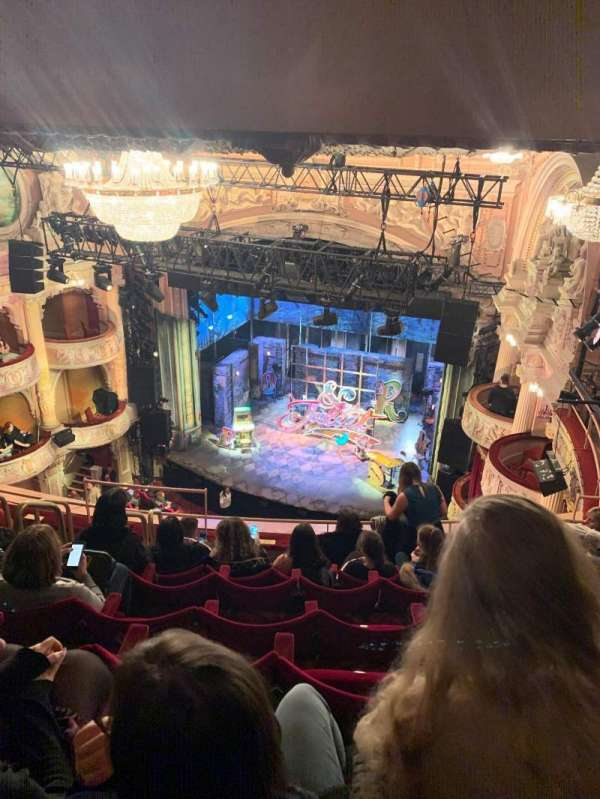 Shaftesbury Theatre, section: Grand  circle, row: G, seat: 8