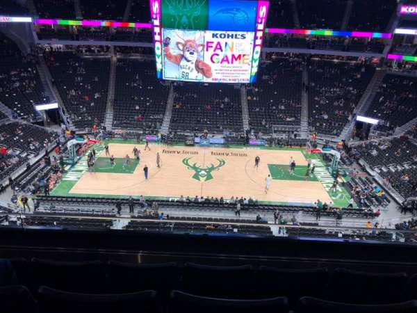 Fiserv Forum, section: 208, row: 4, seat: 10